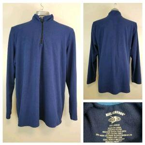Reel Legends XXL Blue 1/4 Zip Thin Fleece Pullover